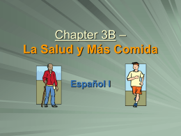Chapter 3B - Vocabulario