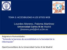 Tema 3: Accesibilidad en los sitios web