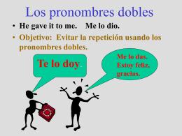 Los pronombres dobles