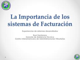 La Importancia de los sistemas de Facturación y la