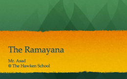 The Ramayana - HistoryAsad