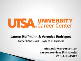 RESUME WRITING - University of Texas at San