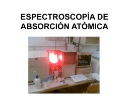 ESPECTROSCOPÍA DE ABSORCIÓN ATÓMICA