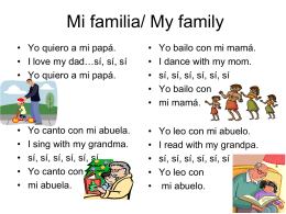 Mi familia/ My family