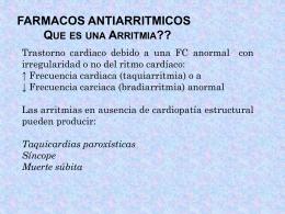 ANTIARRITMICOS - Farmaco2 Dr:Matamoros