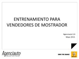 ENTRENAMIENTO PARA VENDEDORES DE MOSTRADOR