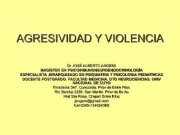 AGRESIVIDAD Y VIOLENCIA