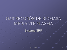 GASIFICACIÓN DE BIOMASA MEDIANTE PLASMA