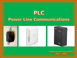 PLC(Power Line Communications) Comunicaciones