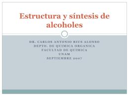 Estructura y síntesis de alcoholes