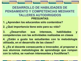 DESARROLLO DE HABILIDADES DE PENSAMIENTO Y