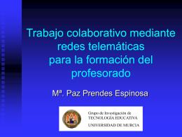 Trabajo colaborativo mediante redes telemáticas: