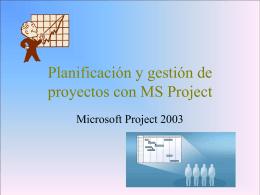 Planificación y gestión de proyectos con MS