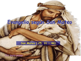 Evangelio San Mateo 25, 31-46