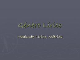 Género Lírico - Todo el lenguaje