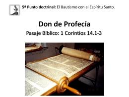 Lección 5: Don de Profecía - Inicio ICIAR -