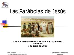 Parábolas de Jesús - Iglesia Biblica Bautista de