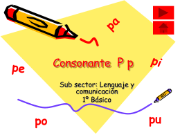 Sonido inicial Palabras con P p