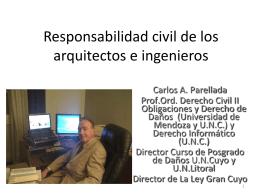 Responsabilidad de los arquitectos e ingenieros
