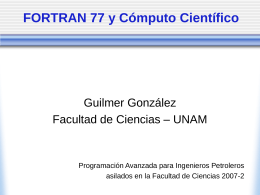 FORTRAN 77 para Ingenieros Petroleros