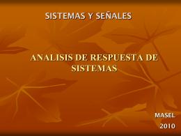 ANALISIS DE RESPUESTA USANDO MATLAB