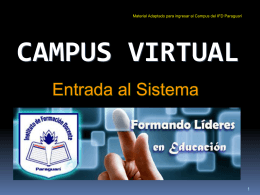 Campus Virtual - Instituto de Formación Docente