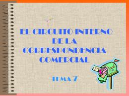El circuito interno de la correspondencia. Enviado