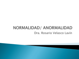 NORMALIDAD/ ANORMALIDAD