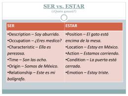 SER vs. ESTAR (¿Quién ganará?)