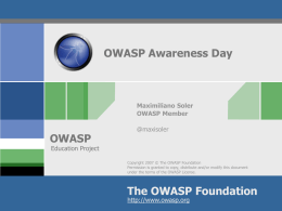 OWASP Awareness Day