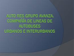 AUTORES COMPAÑÍA DE LINEAS DE AUTOBUSES