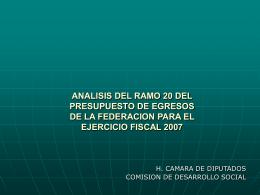 ANALISIS DEL PEF 2007 COMPARATIVO ENTRE EL