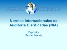 Normas Internacionales de auditoría clarificadas