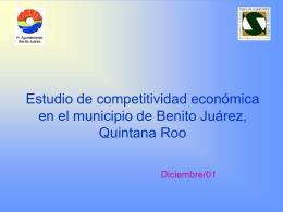 Estudio de competitividad económica en el