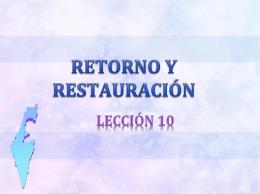RETORNO Y RESTAURACIÓN