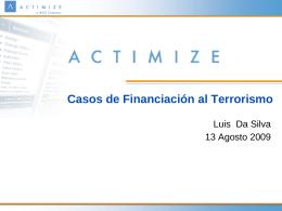 Cases of Terrorist Financing