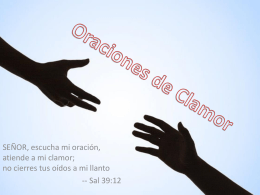 Oraciones de Clamor - Union.cr | Cristianos en