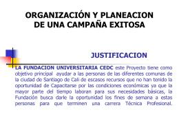 JUSTIFICACION LA FUNDACION UNIVERSITARIA CEDC este