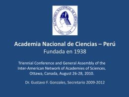 Academia Nacional de Ciencias – Perú Fundada en
