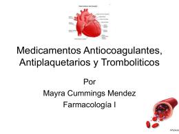 Medicamentos Antiocoagulantes,