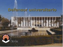 Defensor universitario - Universidad de Córdoba