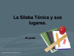 La Sílaba Tónica