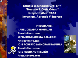 "ESCUELA SECUNDARIA GRAL N° 1 ""NAZARIO S. ORTIZ"