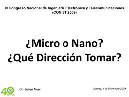 Introducción a la Nanotecnología y Electrónica
