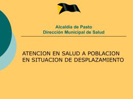 Alcaldía de Pasto Dirección Municipal de Salud