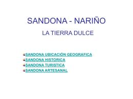 SANDONA - NARIÑO
