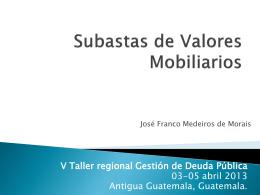 Subastas de Valores Mobiliarios - captac