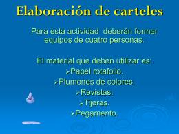 Elaboración de carteles - CBT Dr Alfonso León de