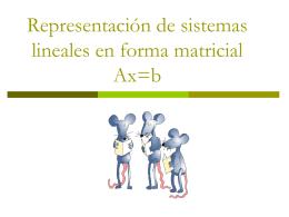 Representación de sistemas lineales en forma