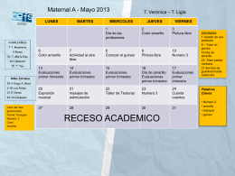CALENDARIO DE JULIO - CEFS | Centro Educativo